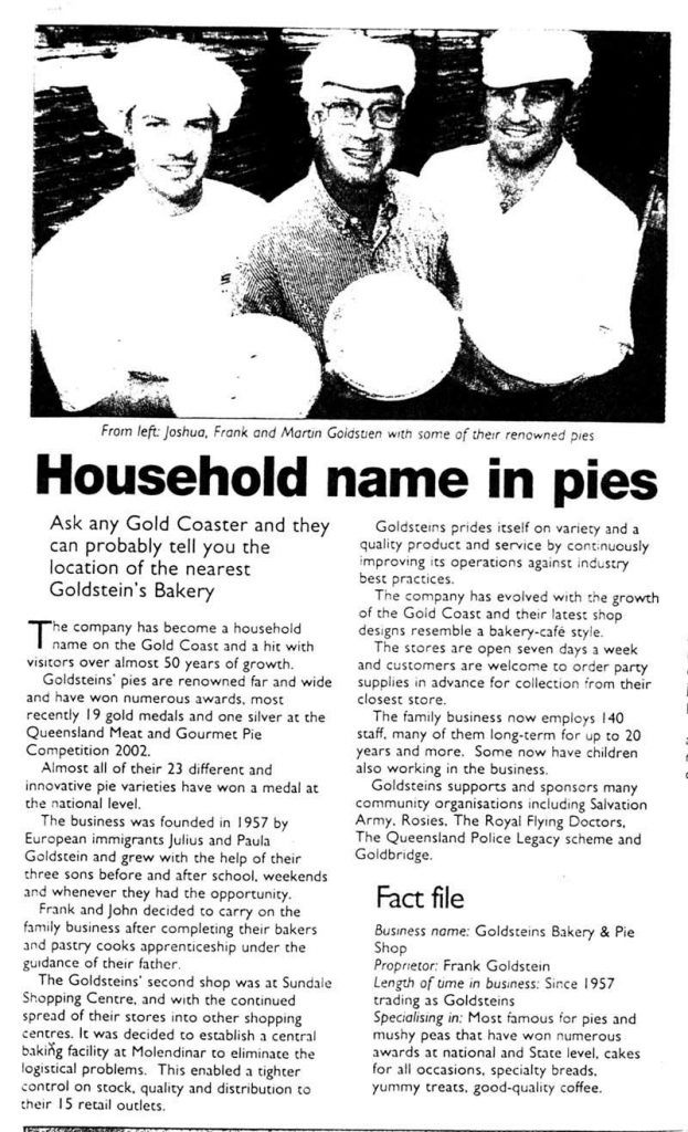 Household name in pies