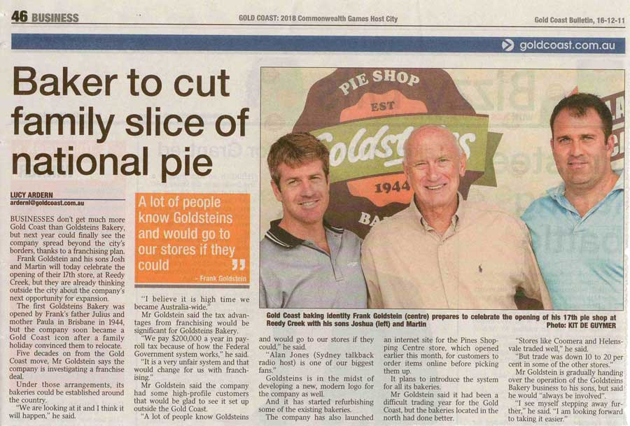 Baker to cut family slice of national pie