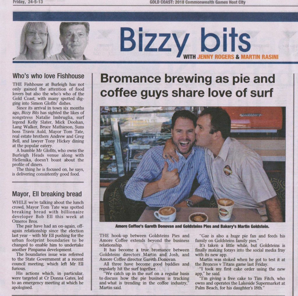 Pie and Coffee guys share love of surf