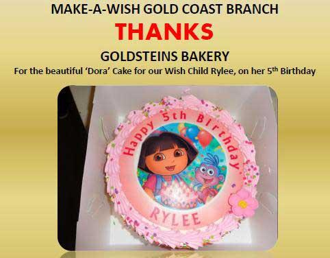 Make a Wish - Dora Cake Thank You